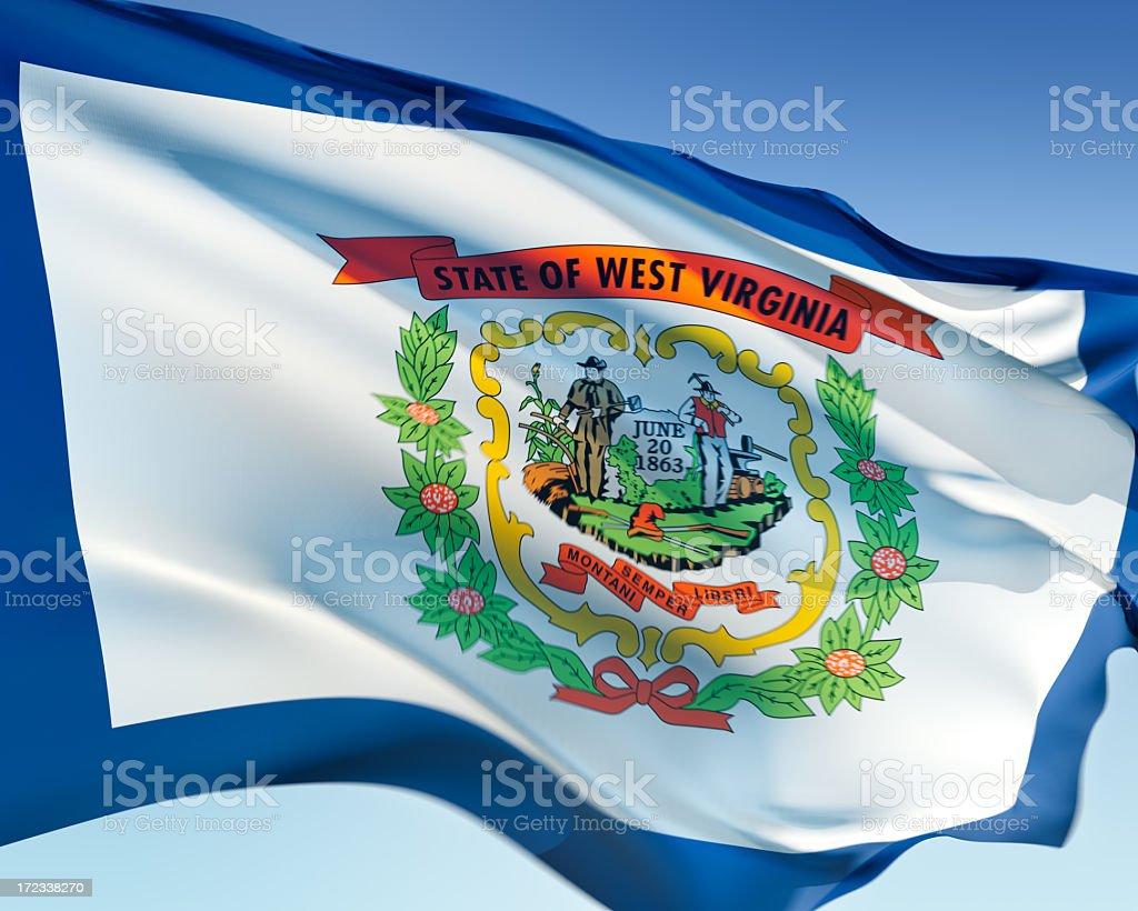 Flag of West Virginia stock photo