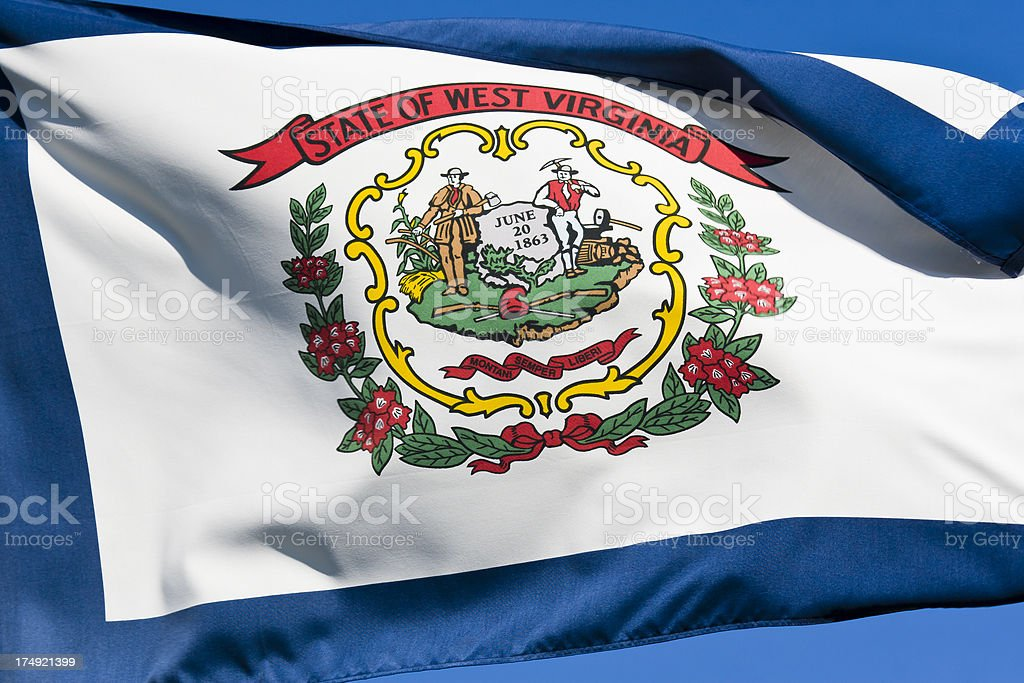 Flag of West Virginia stock photo