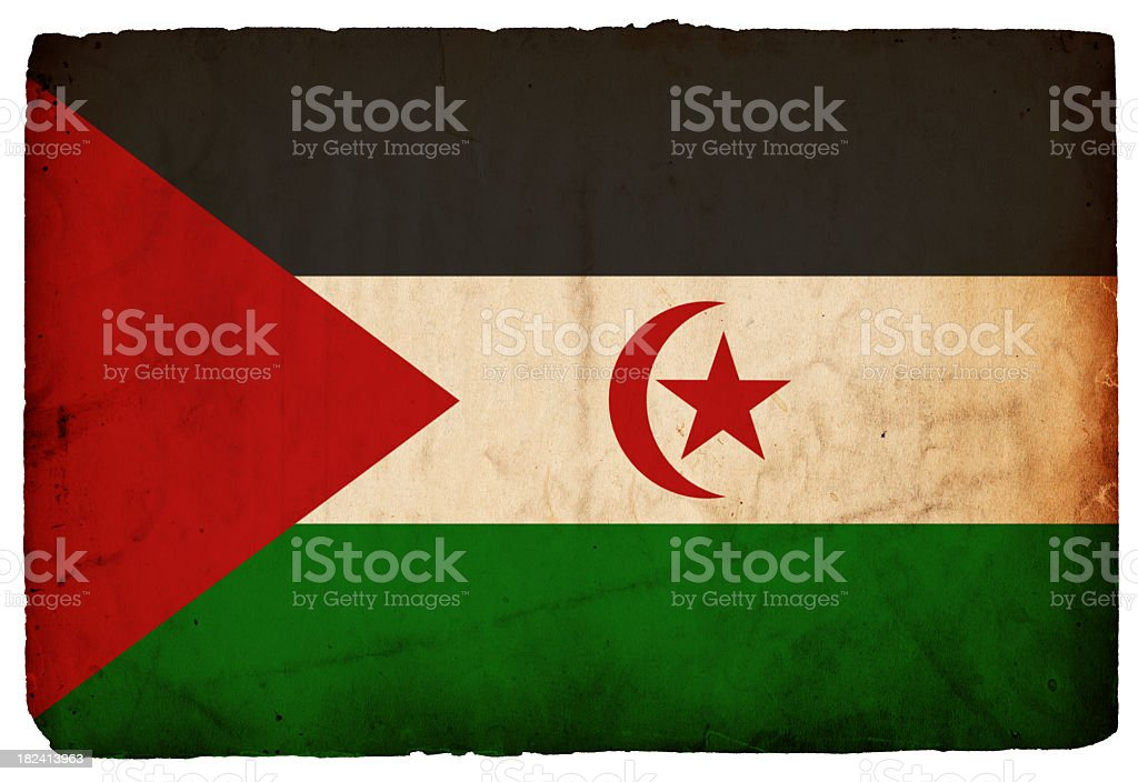 Flag of Western Sahara - XXXL royalty-free stock photo