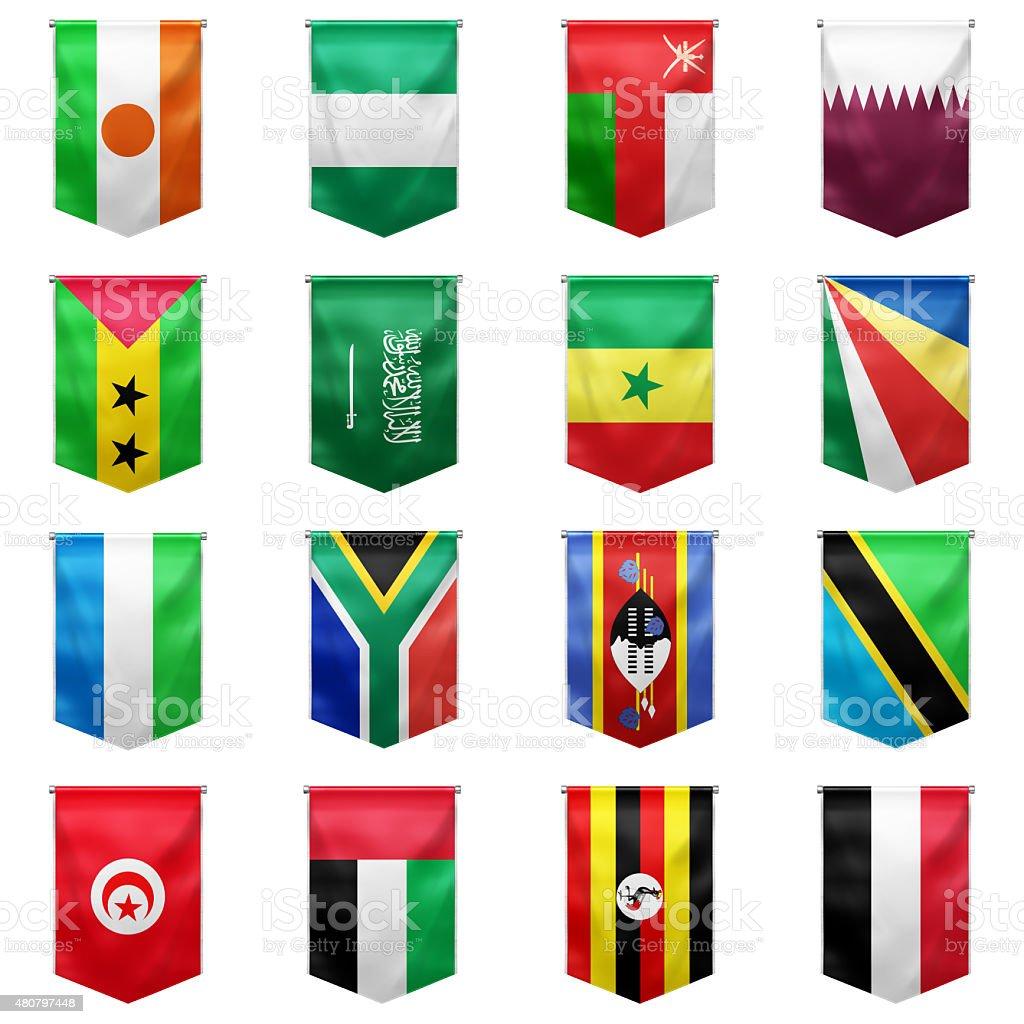 Flag of world_03 stock photo