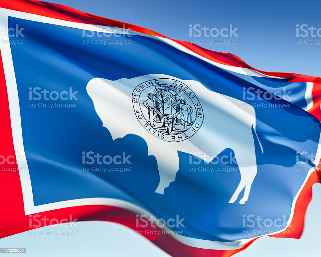 Flag of Wyoming royalty-free stock photo