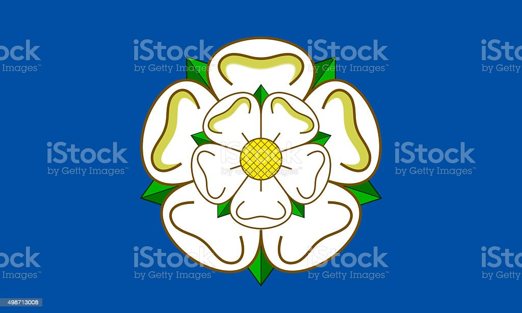 Flag of Yorkshire stock photo