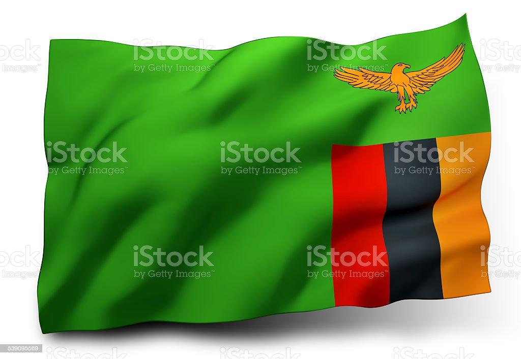 Flag of Zambia stock photo