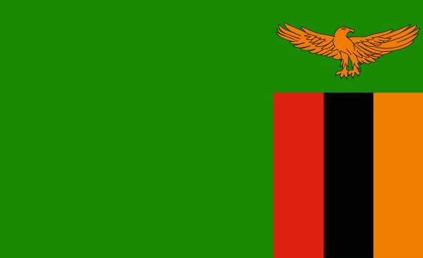 flagge of zambia  - sambia stock-fotos und bilder