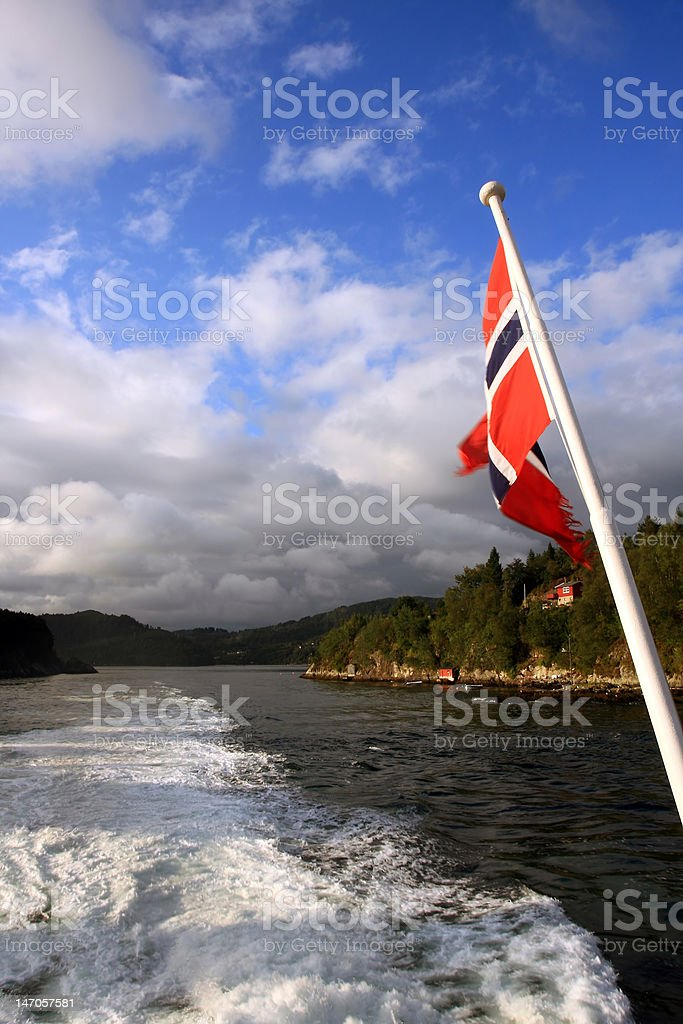 Flag on a cruise royalty-free stock photo