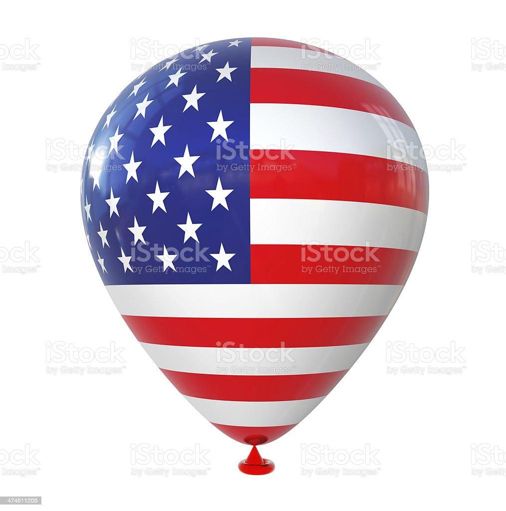 USA Flag on Balloon royalty-free stock photo
