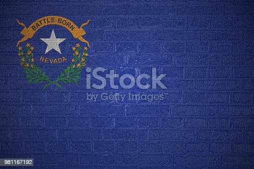450754061 istock photo Flag on brick wall 981167192