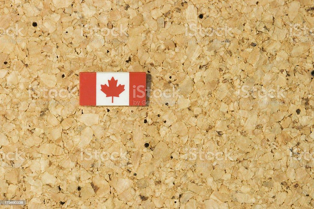 flag on corkboard royalty-free stock photo