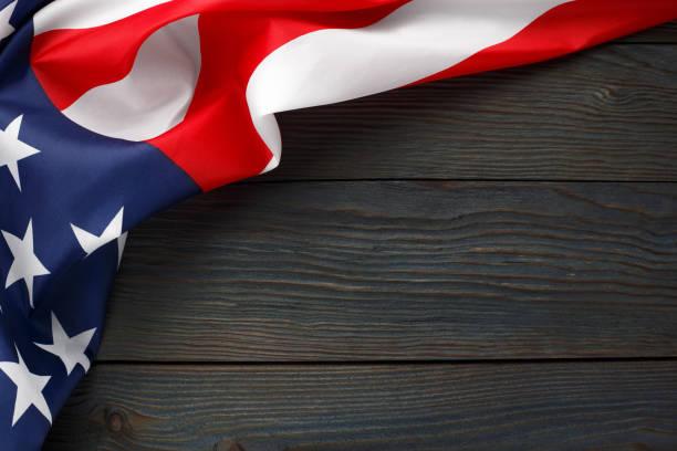 usa flag on dark - fourth of july стоковые фото и изображения