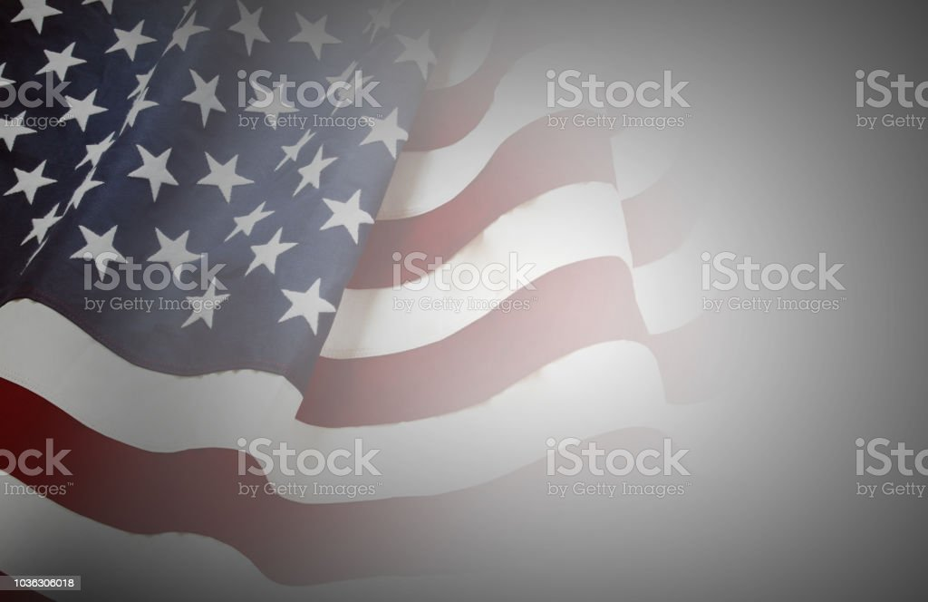 USA-Flagge auf grau – Foto