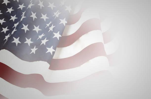 USA flag on grey stock photo