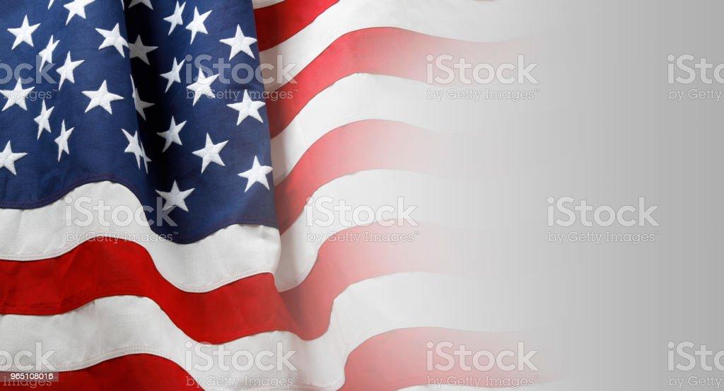 USA flag on grey royalty-free stock photo
