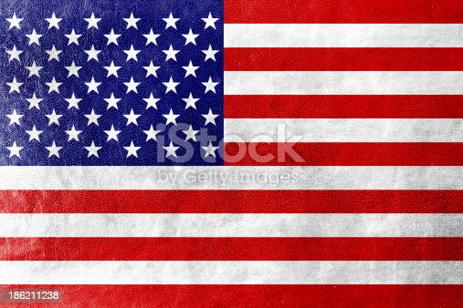 953130996istockphoto USA Flag on leather texture or background 186211238