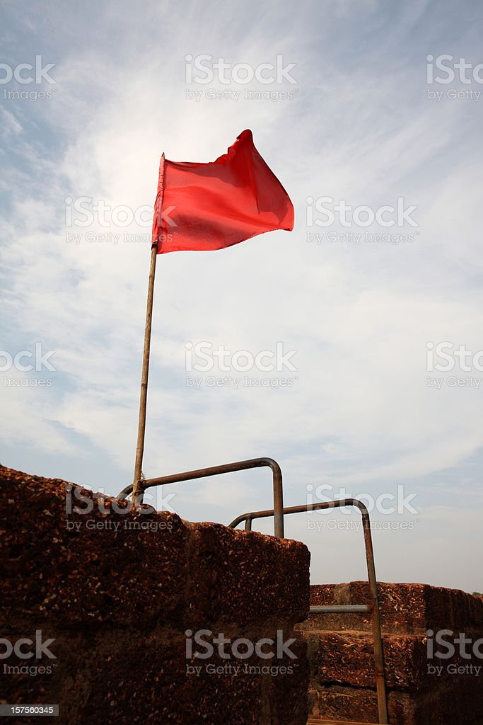 Flag on the fort stock photo