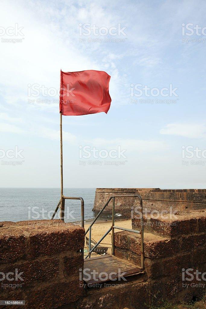 Bandera en el fort foto de stock libre de derechos