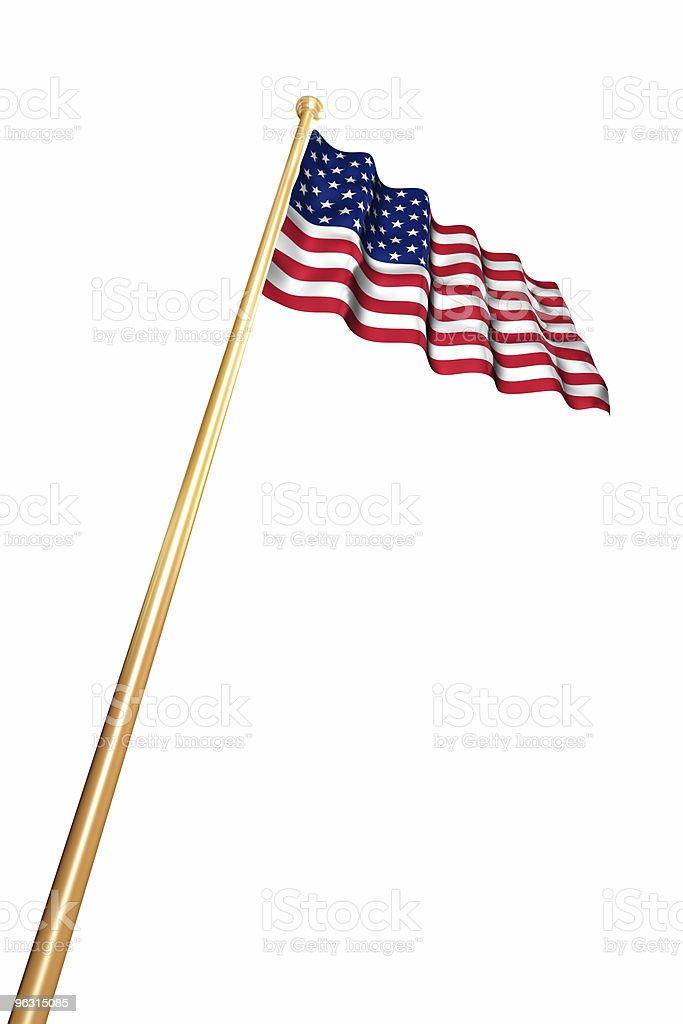 USA Flag on White royalty-free stock photo