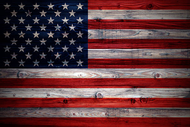 Best Rustic Faded American Flag Stock Photos Pictures