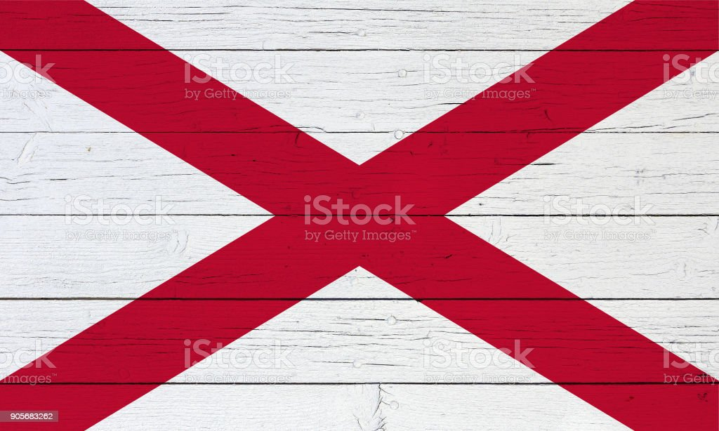 Flag on wooden background stock photo