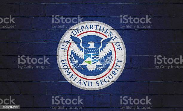 Dhs Flag Painted On A Wall Stock Photo - Download Image Now