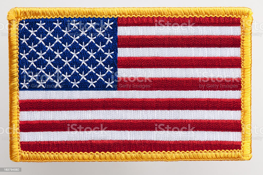 USA flag Patch. stock photo