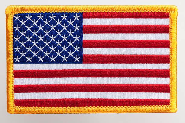 Parche bandera de Estados Unidos. - foto de stock