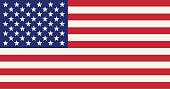 One of a set. USA flag.