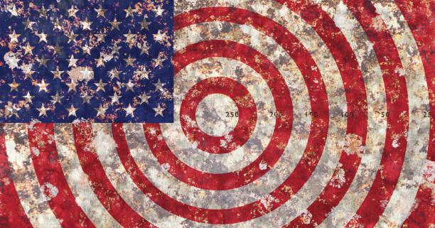us-flagge - target raumgestaltung stock-fotos und bilder