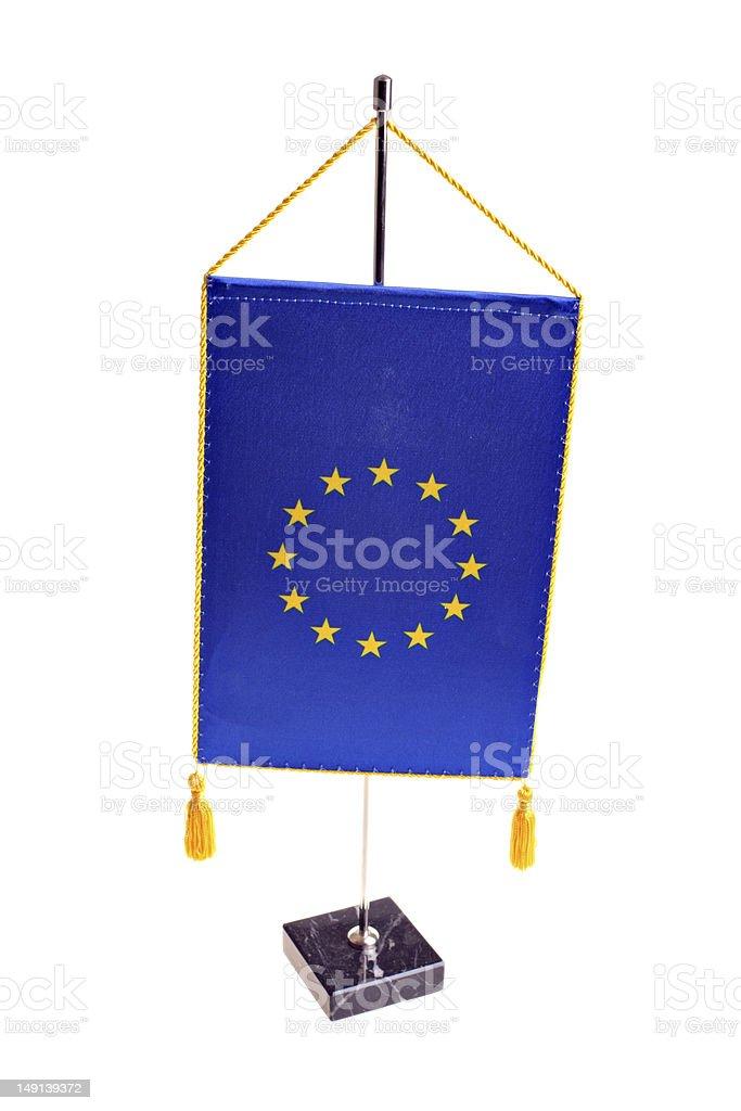E.U. flag royalty-free stock photo