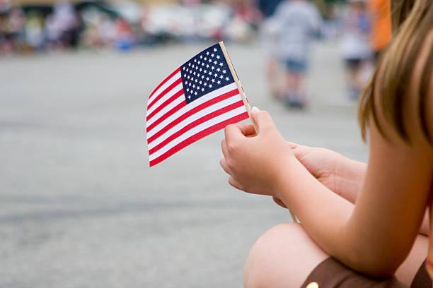 usa flag - geçit töreni stok fotoğraflar ve resimler