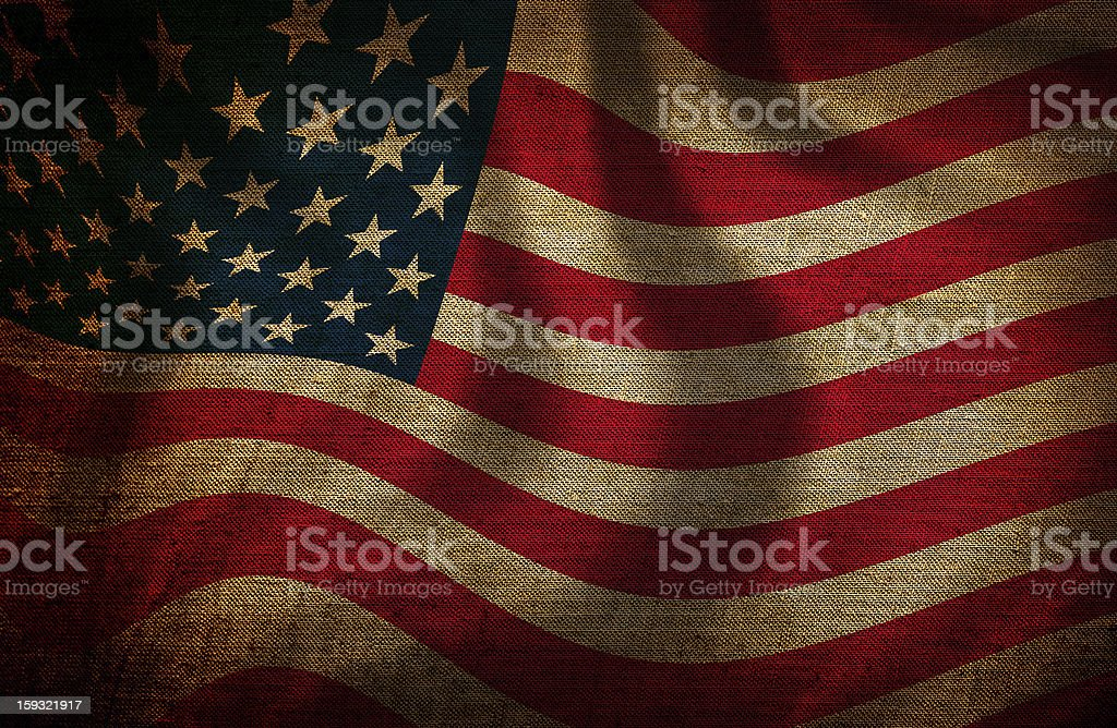 USS flag royalty-free stock photo