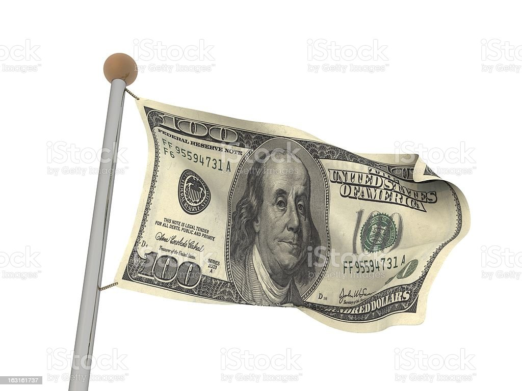 100$ flag royalty-free stock photo