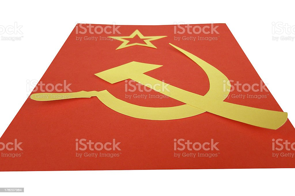 CCCP Flag royalty-free stock photo