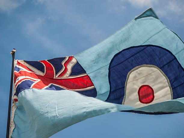 RAF Flag stock photo