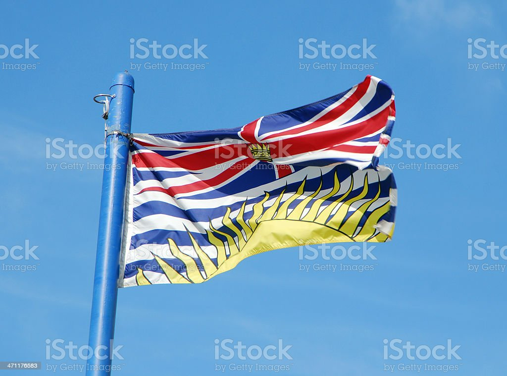 BC Flag stock photo