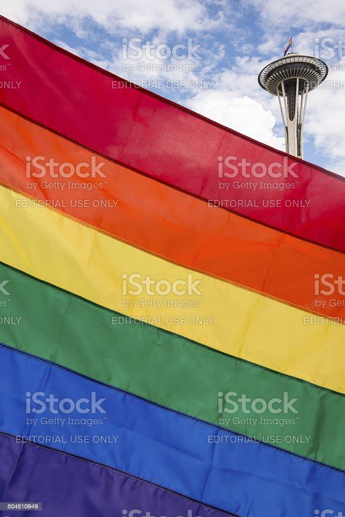 LGBT Flag royalty-free stock photo