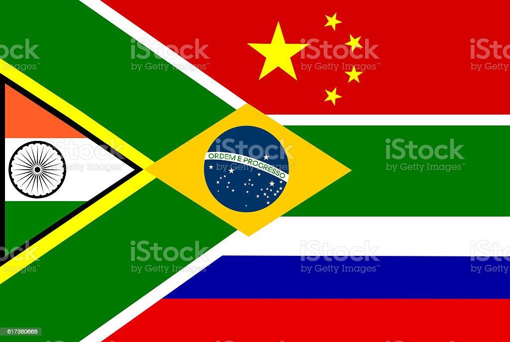BRICS flag stock photo