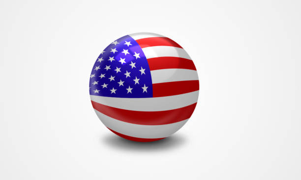USA Flag USA flag in 3D ball Anglo American stock pictures, royalty-free photos & images