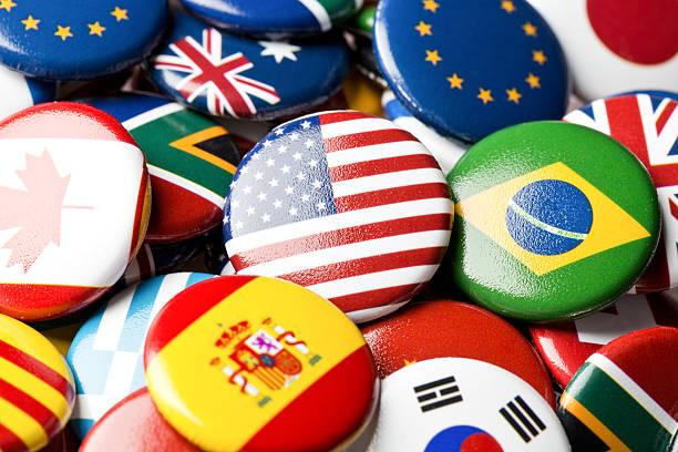 미국 플랙 핀 국제표준 컬레션 - united nations 뉴스 사진 이미지