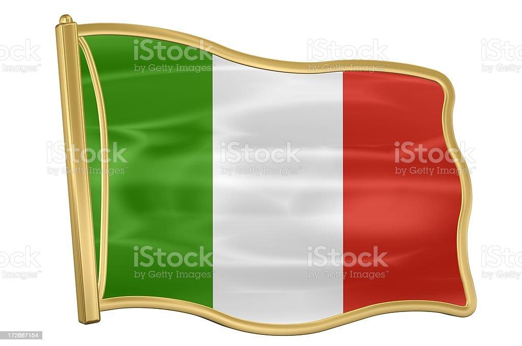 Flag Pin - Italy royalty-free stock photo