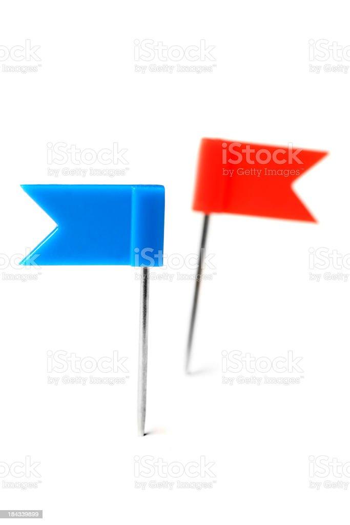 Flag pins on white stock photo