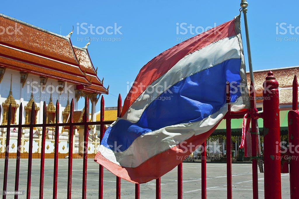 flag pole of thailand royalty-free stock photo