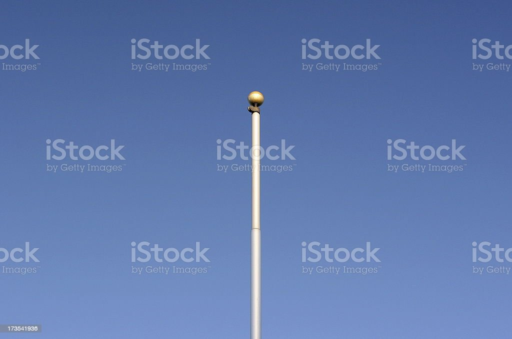 Flag Pole royalty-free stock photo
