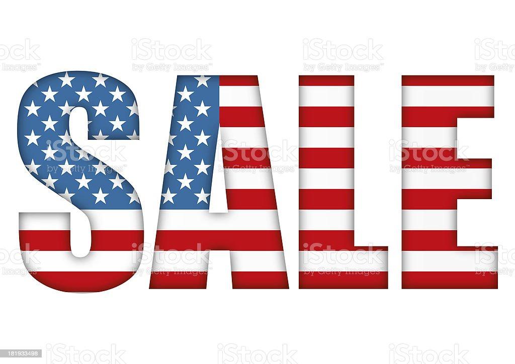 USA flag sale stock photo