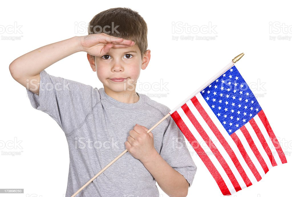 Flag Salute stock photo