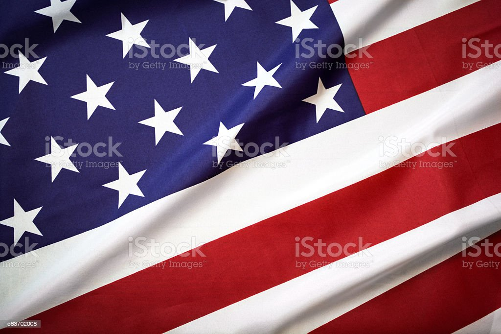 USA flag, stars and stripes stock photo