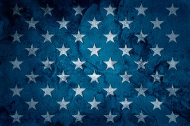 USA flag stars stock photo
