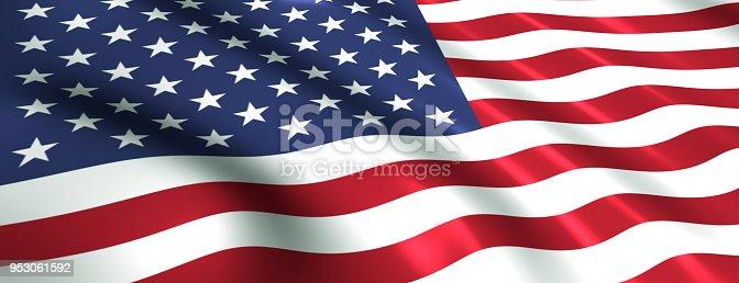 istock US flag symbol of the usa 953061592