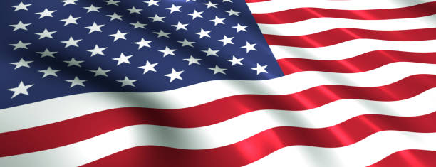 us flag symbol of the usa - wave icon stock photos and pictures
