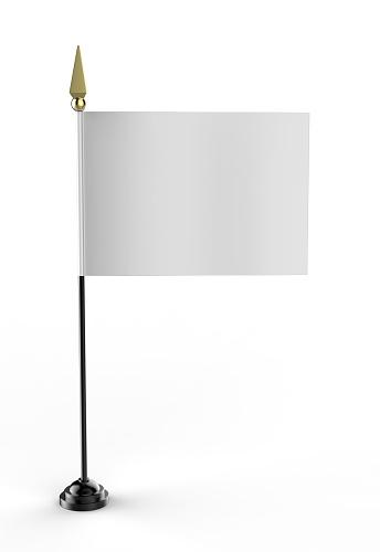 Blank white miniature flag.