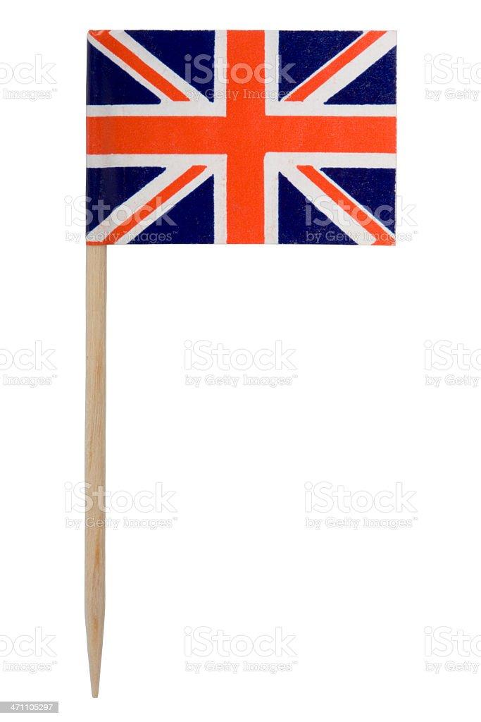 UK flag toothpick (XL) stock photo
